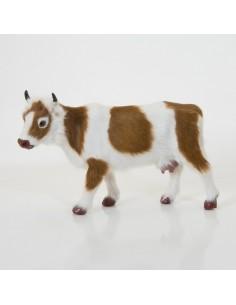 Kuh stehend, gescheckt